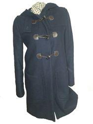Тёмно-синее пальто Benetton, 38 размера