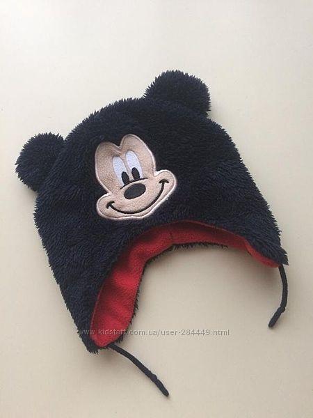 Теплая шапочка Mickey Mouse на флисе от Disney Baby на 6-12 месяцев