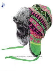 Женская шапка-ушанка c подкладкой из флиса, Польша