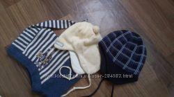 Теплые фирменные шапочки