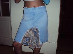 Джинсовая юбка на лето