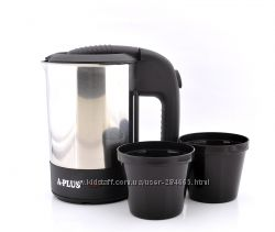 Чайник автомобильный электрический с чашками
