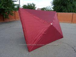 Торговые большие зонты с серебристым напылением
