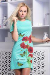 Платье с принтом Маки Размеры и цвета в ассортименте