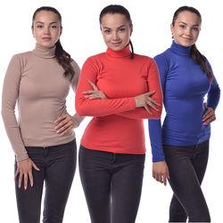 Распродажа Водолазки теплые женские по доступной цене Цвета в ассортименте