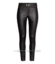 штаны кожзам , экокожа, разм.   34,  38р   бренд  H&M.