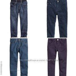Котоновые брюки, джинсы, вельветы, бренд H&M,  разм. 122, 128, 134, 140