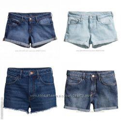 стильные джинсовые шорты на любой вкус, бренд H&M