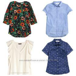 Летние блузки рубашки . бренд H&M, разм. 36, 38
