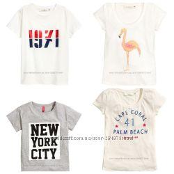 Стильные футболки H&M, разм. ХС, С