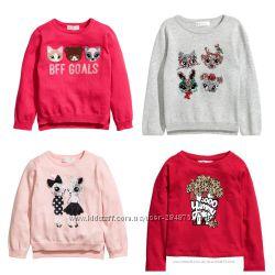 Свитшоты  на девочек, бренд H&M размер 134-140