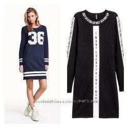 Платье с цифрами , бренд H&M, размер 36 и 38, хлопок