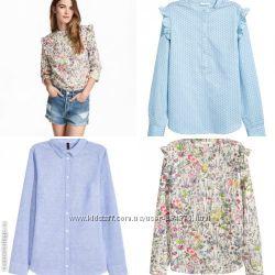 Стильные женские  блузки рубашки , разные модели, бренд H&M, разм. 34, 36,