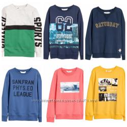 Свитшоты на мальчика, бренд H&M, размер 146-152, 158-164, 170