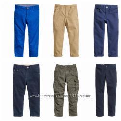 Брюки, чиносы, вельветы на мальчиков, бренд H&M, размеры с 128 по 170