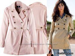Бежевый  плащ пиджак жакет тренч 38 и 40 размер,  бренд H&M