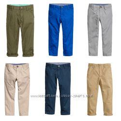 Штаны, брюки школьные, чиносы на мальчиков, H&M, размер 128, 134, 140