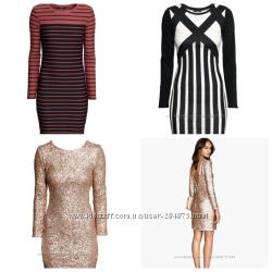 Красивые  платья , разные модели, размер С и М,  бренд H&M,