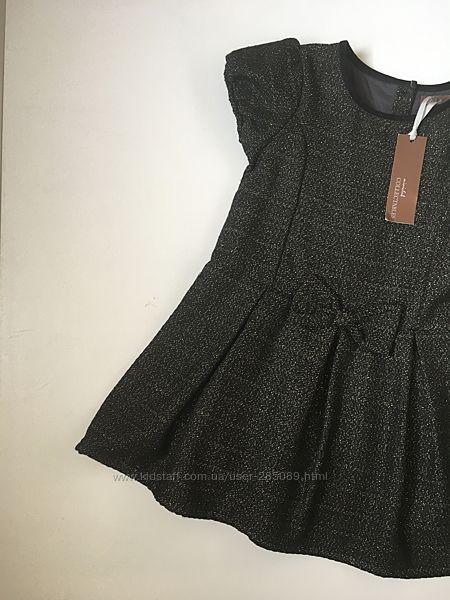 Новое нарядное платье с люрексом Mini Club 4-5 лет