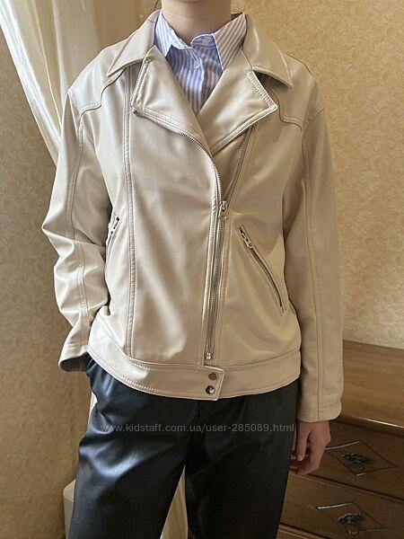 Стильная косуха на весну Zara 13-14 лет эко-кожа