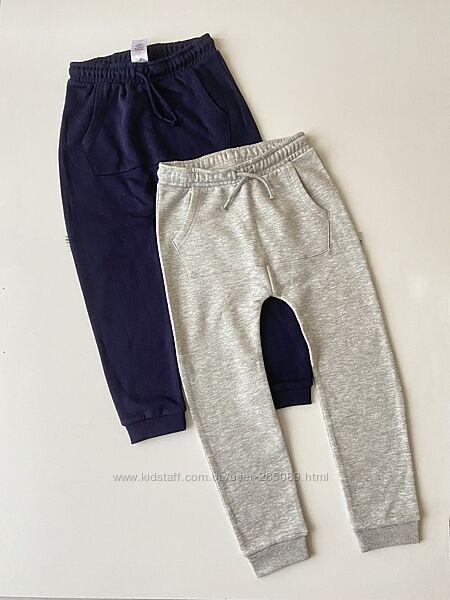 Новые спортивные штаны на флисе с заниженной мотней George 7-8 лет