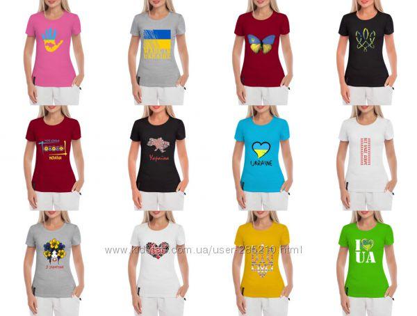 Женские футболки с патриотичным дизайном