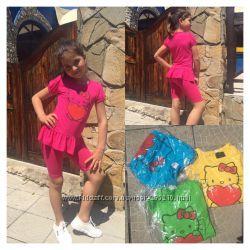Летние костюмы и комплекты для девочек до р. 140