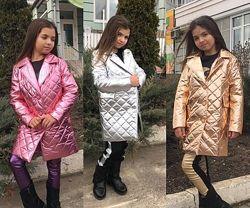 Детские демисезонные пальто до 42-го размера