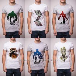Мужские футболки MorningStar с принтами комиксов, р. XS-XL