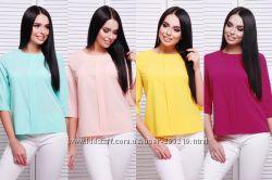 Летние женские блузы и футболки до размера 56