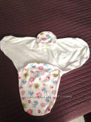Комплект пеленка на липучке и шапочка