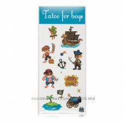 Детские переводные тату, есть рисунки для мальчиков и девочек