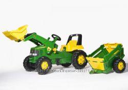 Трактор педальный с прицепом и ковшом John Deere Rolly Toys 811496