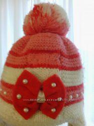 Теплая шапочка на  5 - 6 лет