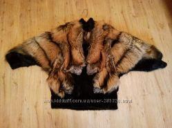 Натуральная шуба лиса  норка, п-во Италия р 50-52