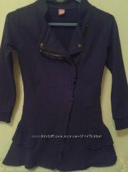 Шикарный удлиненный пиджак DJ до 152-отличный вариант для школы