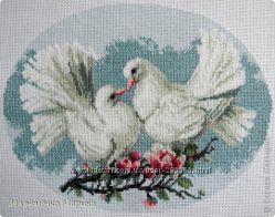 набор для вышивания -пара голубей