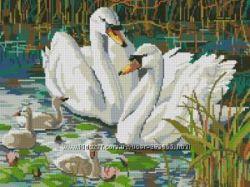 Наборы для вышивания -лебеди