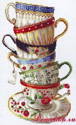 Набор  вышивки для кухни- супер чашечки