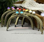 Фермнары-ретро застёжки для изготовления косметичек кошельков сумочек