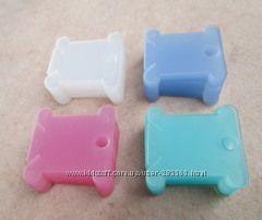 Бобины -шпульки пластиковые  для наматывания и хранения ниток мулине , лент
