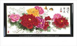 Наборы для вышивки цветов большие размеры