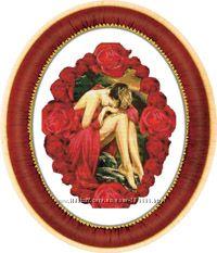 Набор для вышивки-Девушка в розах