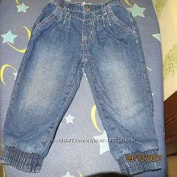 утеплені джинси, вельветові  штани, комбінезон, шортики на дівчинку  6-12мі