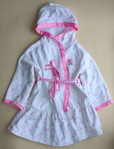 Нарядный Пляжный махровый халат девочке MonnaLisa на рост 98-120см.