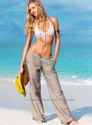 Брюки лен от Victoria&acutes Secret размер 0-XS