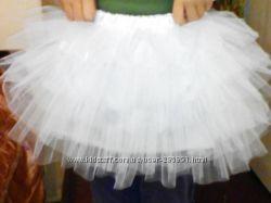 Юбочка мягкий фатин белая, юбка Снежинка Зима