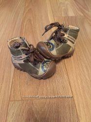 Зимние кожаные ботинки на цигейке, 20 размер