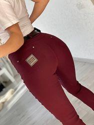 Крутая новинка, лосины, джинс коттон, все цвета, размеры по 58