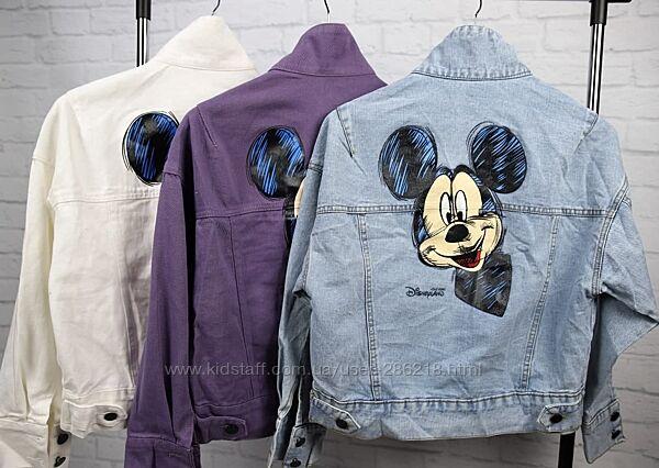 Стильная джинсовка, Микки,  куртка, 42-48